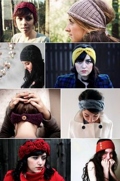 knitted headbands, my current obsession