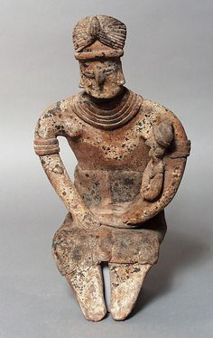 """""""Seated Female Figure with Child Mexico, Colima, Colima, 200 B.C. - A.D. 500"""