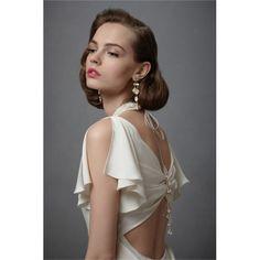 Pleated Chiffon Iced Confection Gown Column Wedding Dress - Star Bridal Apparel