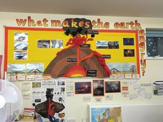 Volcano display.  Natural disasters, what makes the earth angry? KS2 Geography