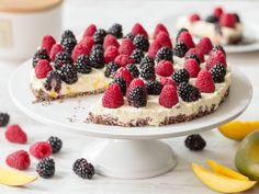 Schneller Kuchen mit Mangocreme