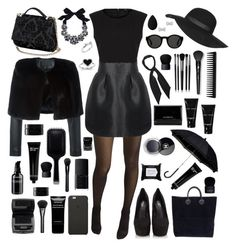 """""""Martina"""" by nicole-288 ❤ liked on Polyvore featuring Wolford, Maje, Philipp Plein, Kate Spade, Carvela Kurt Geiger, GHD, Topshop, NARS Cosmetics, Givenchy and Inglot"""