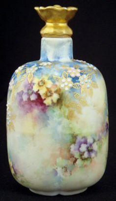 Art Nouveau Limoges Porcelain Perfume Bottle༺נαηιє♥кαтнℓєєη༻