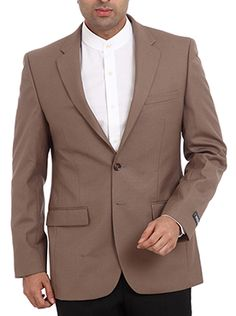 Adding a commanding appeal to your persona, the Raymond Men Brown Formal Jacket grants a rich look with its smart appeal. The medium brown color of the jacket will suit any style and will help in setting the trend. Fine-tuned with perfect tailoring, the lapel just ends at the top button granting a right fit for your body. A blend of 65% polyester and 35% wool bestows this jacket with a soft and smooth texture.