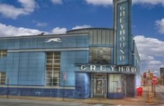 Greyhound bus station in Evansville, Indiana
