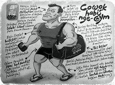 Mice Cartoon (Kompas, 28.April.2013): Cowok Habis Nge-Gym
