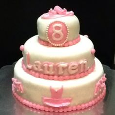 Ballerina Birthday Cake    https://www.facebook.com/pages/Savoureux-Cupcakery/106367256085761