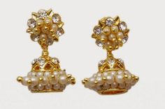 Jewbang whitestone Chennai Express Model Jhumka Earrings bhuttas for Girls