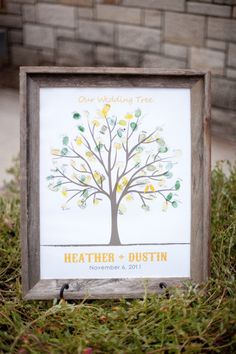 Wedding tree finger print 'guest book' Awesome idea!