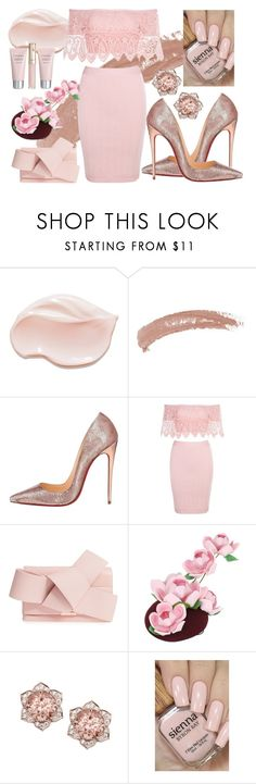 """""""Touch of pink"""" by chalotteleah on Polyvore featuring Topshop, Christian Louboutin, Ted Baker, Francesco Ballestrazzi and By Terry"""