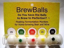 Brew Balls - Fermentation monitoring for carboys and clear brew buckets.