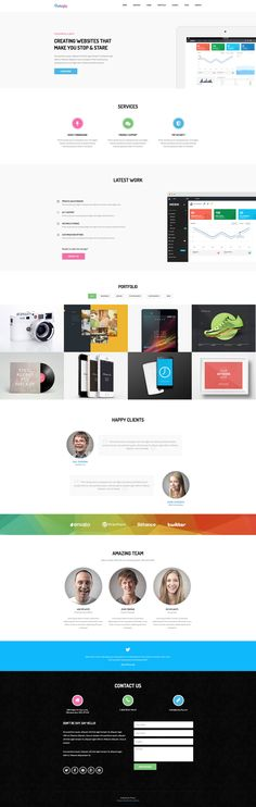 Butterfly is a clean, minimalist free HTML Bootstrap landing page template. It is the best starter template for agencies, freelancers or any creative mind. Butterfly free HTML template is retina ready and built with Bootstrap. Free Html Templates, Page Template, Landing, Butterfly, Bowties, Butterflies