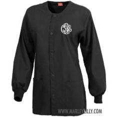 Monogrammed Dickies Round Neck Jacket - perfect for nurses