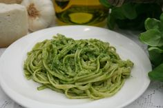 Trenette al pesto  The specialty from my birthplace. So simple. So orgasmic.