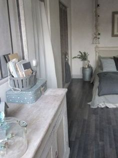 grey washed wood floors. Love