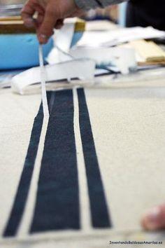 Cómo pintar rayas en tela