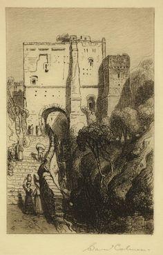 Samuel Colman / Amalfi / Etching, 1882 / Etching revival / Italy / Italian coast / Village / Intaglio / Printmaking / Drawing / Art / Decor