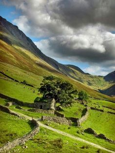 Something eerie and wild about this countryside; very beautiful Ancient Stone House, Yorkshire, England Yorkshire Dales, Yorkshire England, North Yorkshire, Cornwall England, England And Scotland, England Uk, Oxford England, London England, Barns