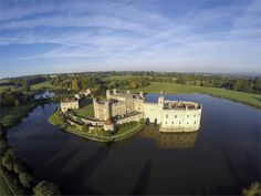 Leeds Castle, complete with its own moat, stands surrounded by 500 acres of Kent luscious parklands and gardens.