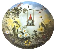 Gnome Plate By Rien Poortvliet Four Seasons