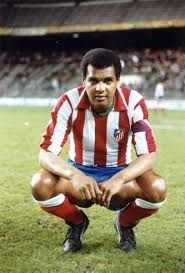 Luis Pereira of Atletico Madrid & Brazil in 1974.