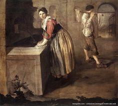 Giacomo Ceruti – La lavandaia (1735), Pinacoteca Tosio Martinengo, Brescia