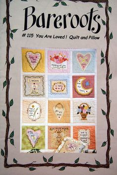 You Are Loved Quilt And Pillow By Bareroots Hand Embroidery