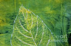 Original gelatin monoprint created in acrylics on Gelli Plate by Lauri Jean Crowe.