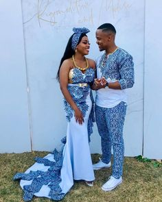 shweshwe dresses in south africa 2020 - Spiffy Fashion Couples African Outfits, African Clothing For Men, African Dresses For Women, Couple Outfits, African Fashion Ankara, Latest African Fashion Dresses, African Print Fashion, Africa Fashion, Fashion Fashion