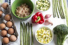 Chicken Vegetable Frittata items