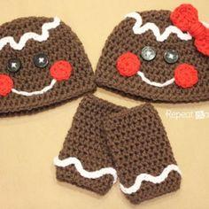 Gingerbread Man Crochet Hat Pattern