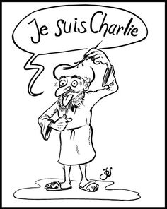 TOONPOOL Cartoons - Je suis Charlie by KritzelJo, tagged charlie, suis, je - Category Politics - rated / Politics, Cartoon, Medium, Fictional Characters, Cartoons, Fantasy Characters, Medium Long Hairstyles