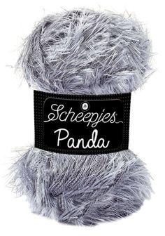 Scheepjes Panda ist ein weiches, haariges Garn. Husky, Panda, Craft Projects, Winter Hats, Crafts, Wool, Amigurumi, Wool Yarn, Crocheting