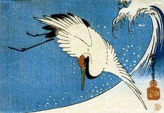 Crane and Wave - Hiroshige