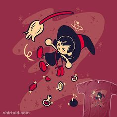 Bumping into a Witch | Shirtoid #gaming #jessrojo #maple #oracleofages #oracleofseasons #thelegendofzelda #videogame #witch