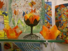 candle holder.. fusion glass candle holder..Glass is cut according to the desired design when It is cold. Transparant and colored glass fragment are placed in the determined shape and have been fired in a klin at a range of high temperature.
