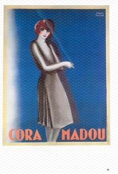 Paul Colin Poster Art Book Plate. Cora Madou. 1929.