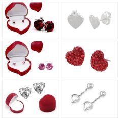 Sweetheart Earrings in Heart-Shaped Box ~ From $13.99 !