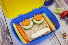 gesundes Pausenbrot, Bento Boxes, Gemüse Blumen, Blumen aus Möhre und Gurke, Schulbrot