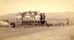 Burbank Villa Hotel, Burbank, California, circa 1887. The Burbank Villa Hotel was built by Dr. Burbank and his son-in-law John W. Griffin in 1887 at a cost of $30,000.00. Later the hotel was renamed the Santa Rosa Hotel and was a popular place for weddings and parties. In the 1920s the hotel was remodeled into apartments and by 1927 it had been torn down and replaced by the post office.  San Fernando Valley Historical Society. San Fernando Valley History Digital Library.