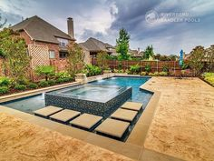 Riverbend Sandler Pools offers Geometric Pool Designs Dallas, Frisco and surrounding areas that homeowners can be proud of. Backyard Pool Landscaping, Backyard Pool Designs, Swimming Pools Backyard, Backyard Ideas, Outdoor Spaces, Outdoor Living, Small Pool Design, Pool Builders, Custom Pools