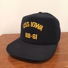 9c8cc11c360af USS IOWA BB-61 Navy Vintage New Era Made in USA Snapback Baseball Cap Hat