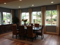 Dining room in a local model home that we both liked :)