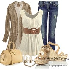 """Beige time"" by amabiledesigns on Polyvore"