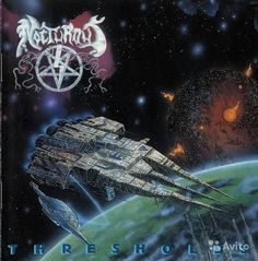 Thresholds is the second full-length studio album from Florida death metal band Nocturnus. It was released in 1992 by Earache Records and fo. Death Metal, Black Metal, Heavy Metal Rock, Extreme Metal, Metal Albums, Metal Artwork, Thrash Metal, Band Posters, Skull Art