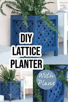 Build your own DIY lattice planter box in just a couple of hours with my plans and tutorial. This outdoor planter box is perfect for patios, decks, and porches. #outdoorplanter #woodworking #AnikasDIYLife Scrap Wood Projects, Woodworking Projects That Sell, Diy Projects, Outdoor Planter Boxes, Diy Planter Box, Porches, Decks, Project Ideas, Easy Diy