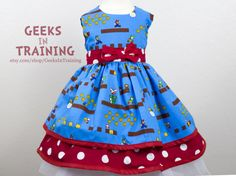 Level Up! Mario Bros Inspired Baby / Toddler Cosplay Dress
