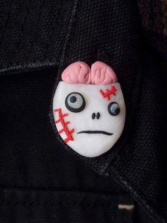 DIY Zombie Polymer Clay Pin Tutorial