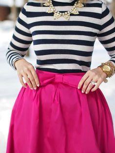 Fushia+Stripes= P E R F E C T!!!!!! :)