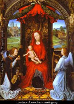 Madonna And Child With Two Angels - Hans Memling - www.hansmemling.org